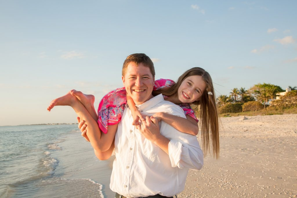 Fun Father and Daughter Beach Portrait
