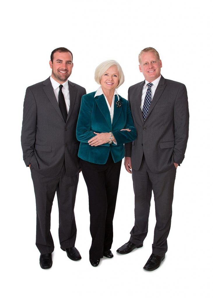 Studio team portrait
