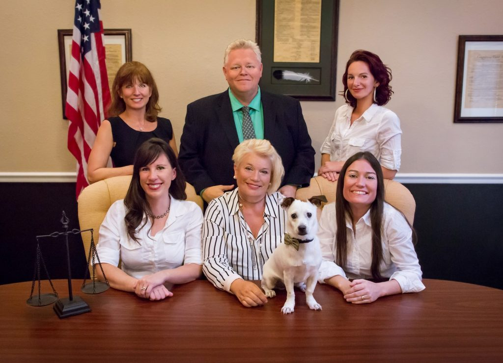 Law Firm Staff Portrait - Including Their Mascot