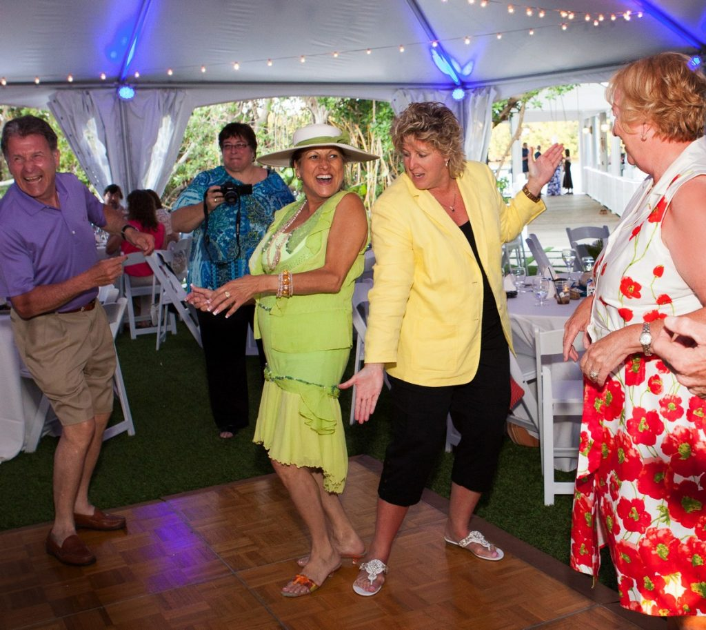 Ladies Dancing at a Party at Palm Island Resort
