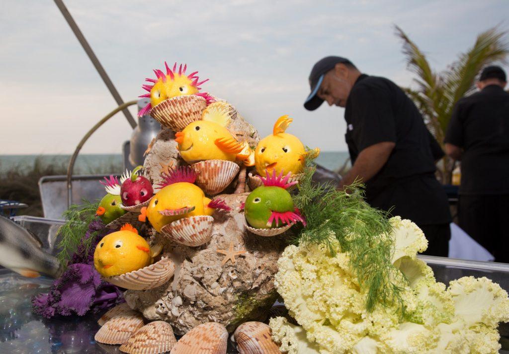 Food sculpture at the Taste of Boca Grande Event