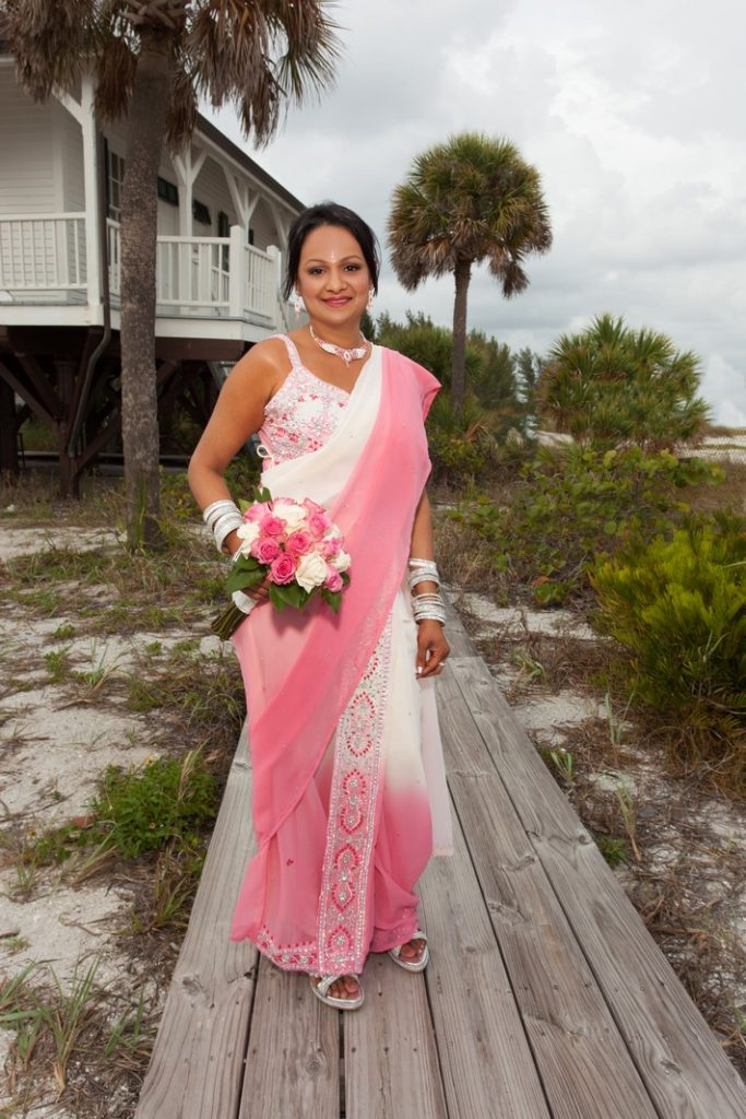 Bride at the Boca Grande Lighthouse