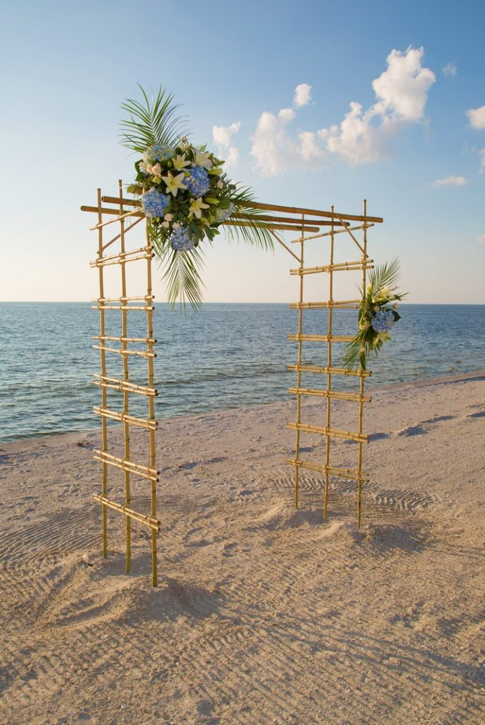 Bamboo Wedding Arch at the Beach