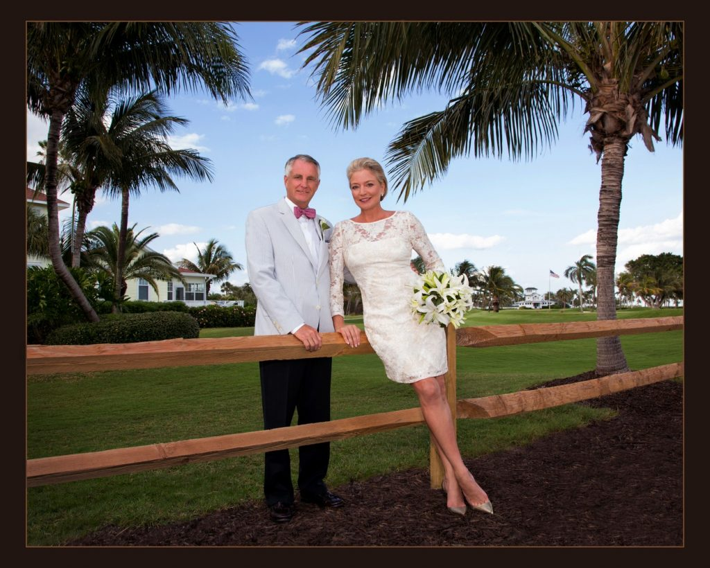 Bride and Groom at the Gasparilla Inn
