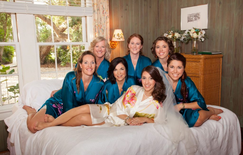 Bride and Bridesmaids at the Manasota Beach Club