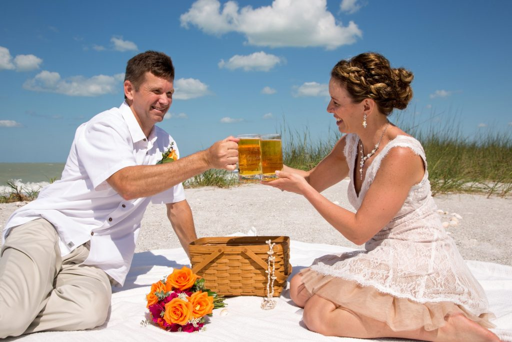Casual Picnic Wedding at the Beach