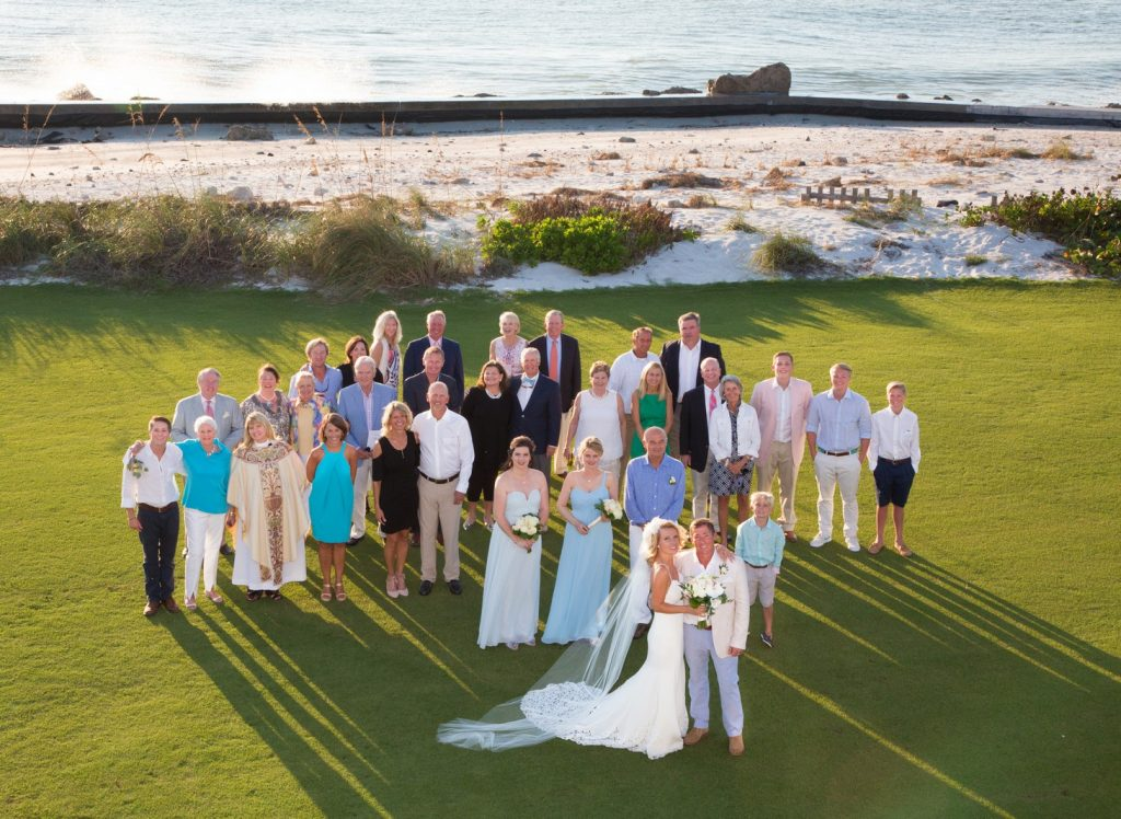 Wedding Group Photo at the Pass Club on Boca Grande