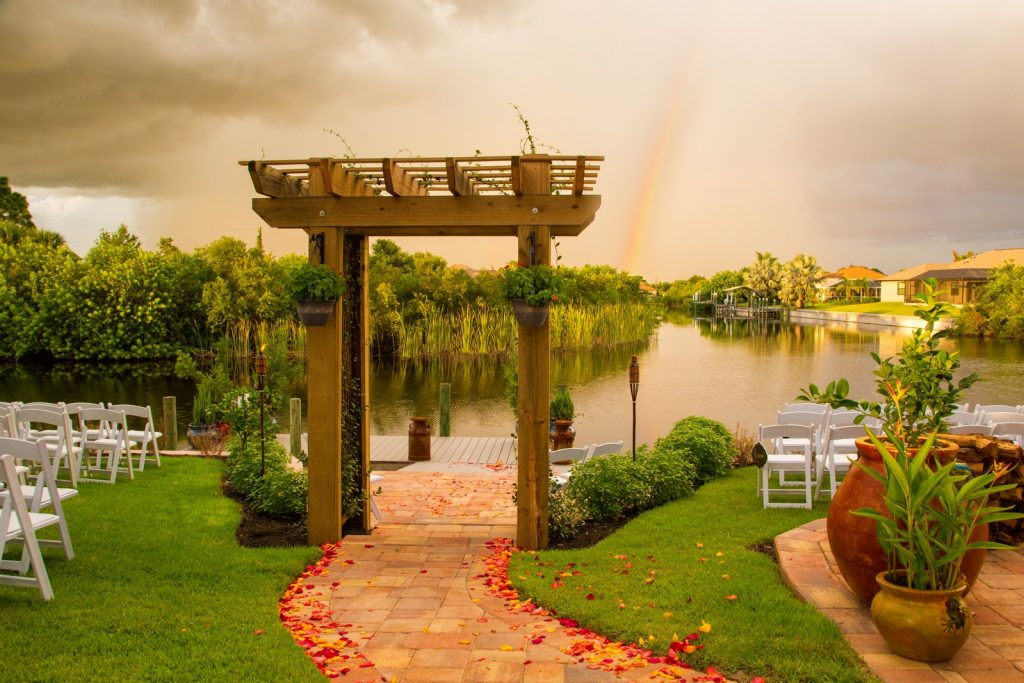 Wedding Ceremony Near a Canal in Englewood FL