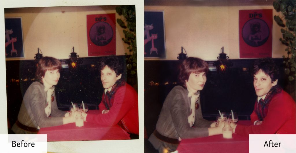Restored Snapshot of a Couple- Before and After