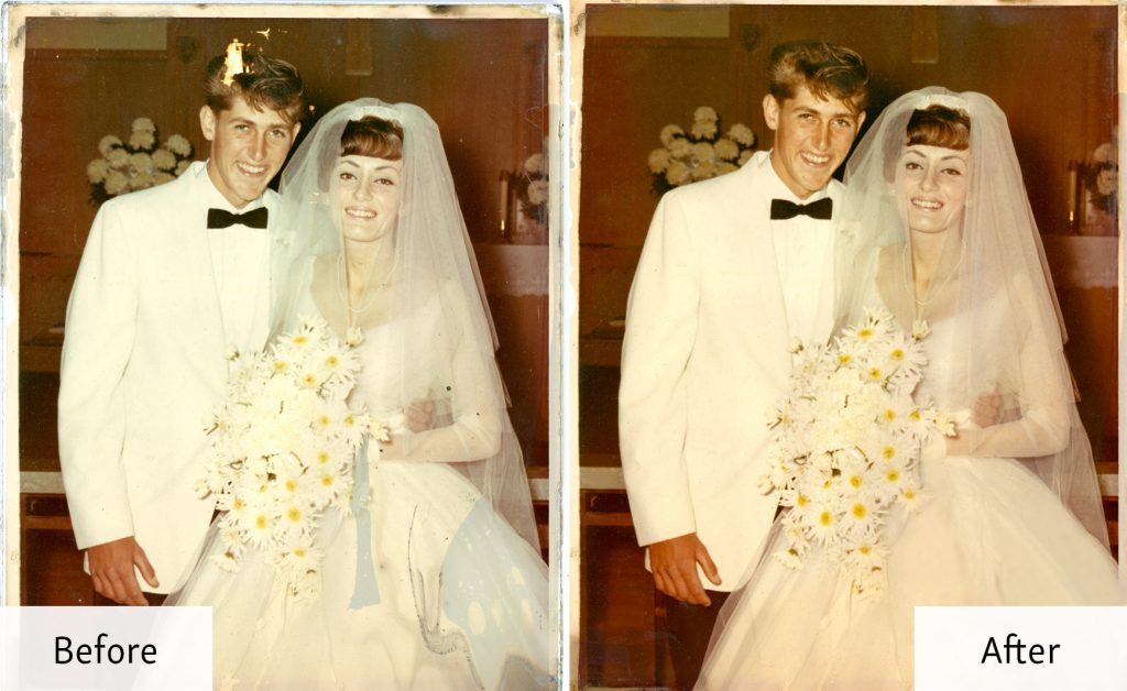 Wedding Photo Restoration - Before and Afte